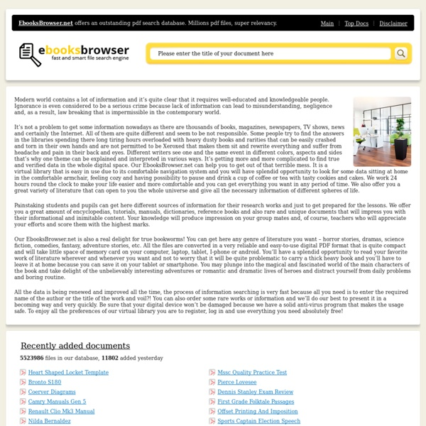 Ebook Search & Free Ebook Downloads - EbookBrowsee.net
