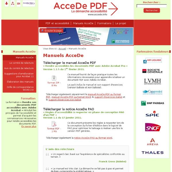 Manuels AcceDe PDF - AcceDe PDF - La démarche accessibilité