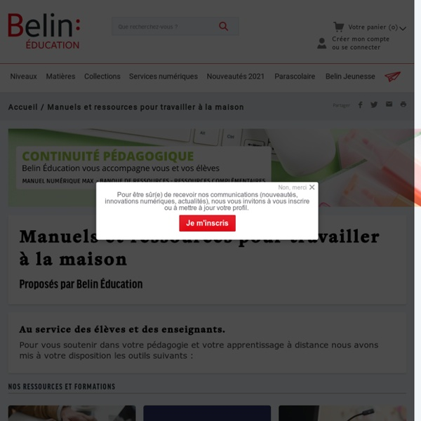 Belin : Manuels et ressources pour travailler à la maison