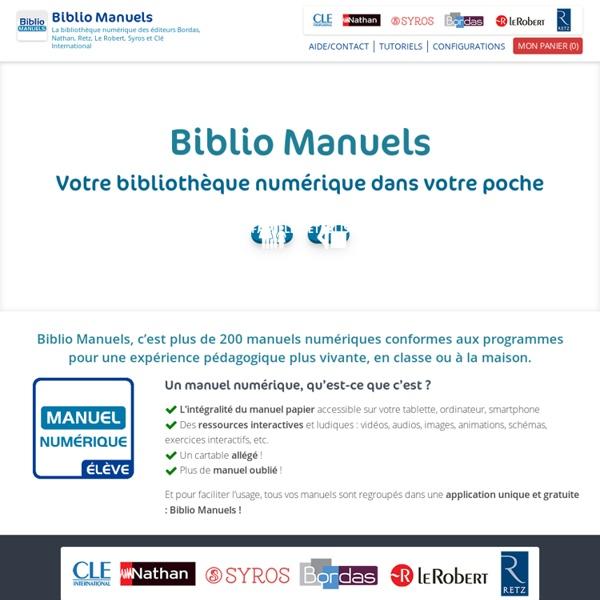Manuels numériques élèves – Éditions Bordas, Nathan, Retz et Le Robert