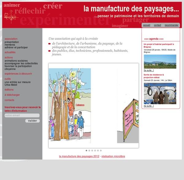 La manufacture des paysages > Accueil
