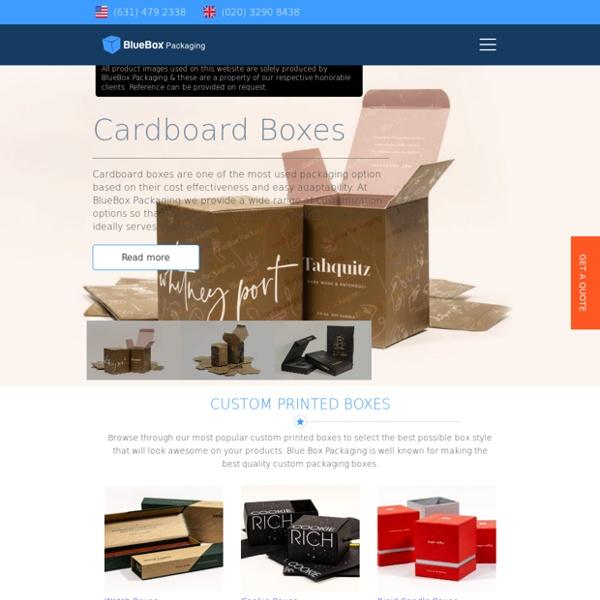 Custom Boxes Manufacturer