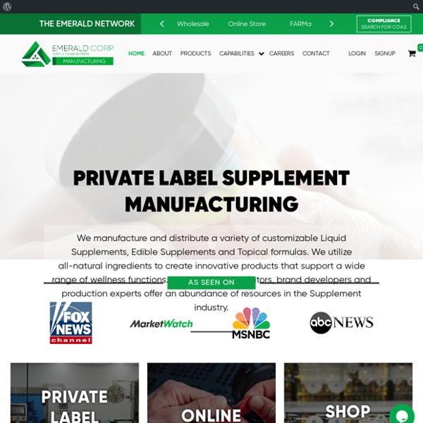 Private Label CBD Manufacturers