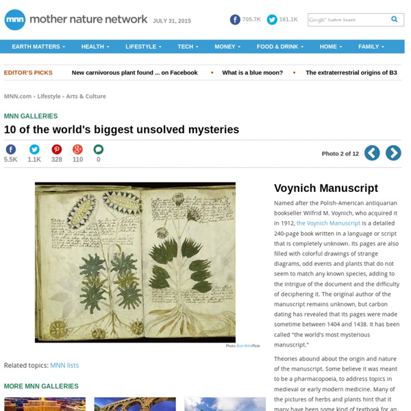 10 of the world's biggest unsolved mysteries: Voynich Manuscript