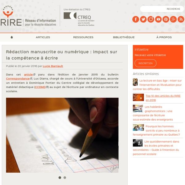 Rédaction manuscrite ou numérique : la compétence à écrire