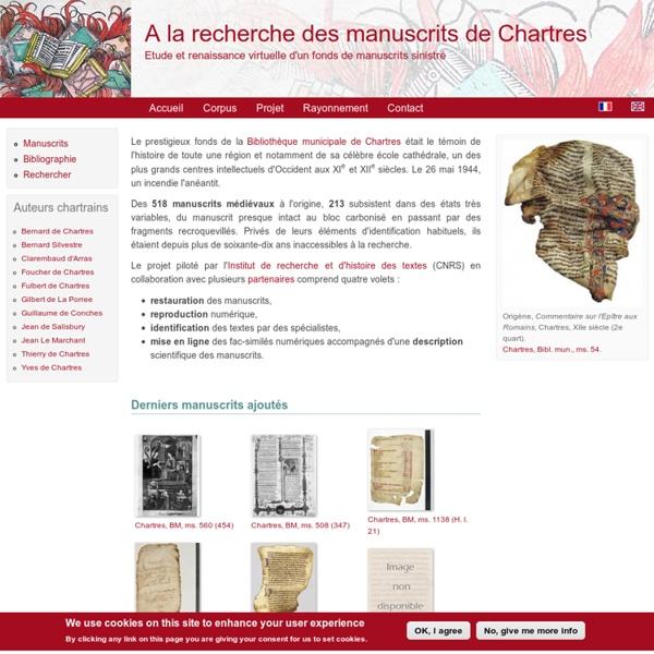 Etude et renaissance virtuelle d'un fonds de manuscrits sinistré