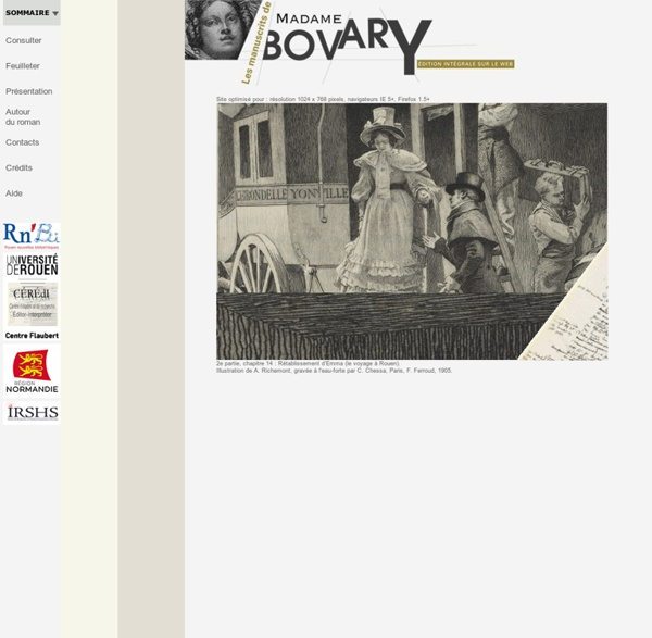 Édition des manuscrits de Madame Bovary de Flaubert