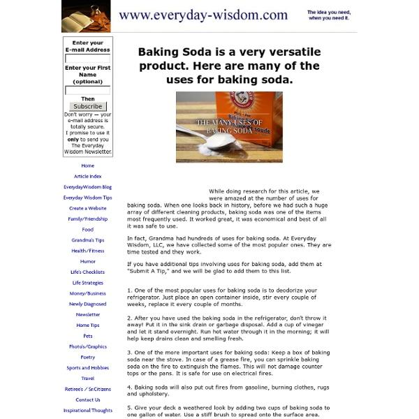 Many uses for baking soda.