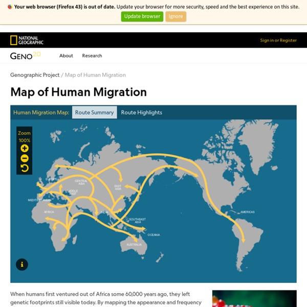 The Human Journey: Migration Routes