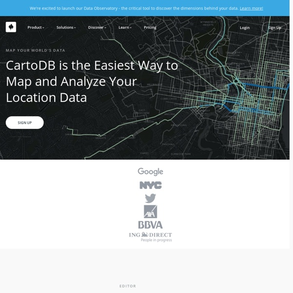 Create beautiful dynamic data driven maps
