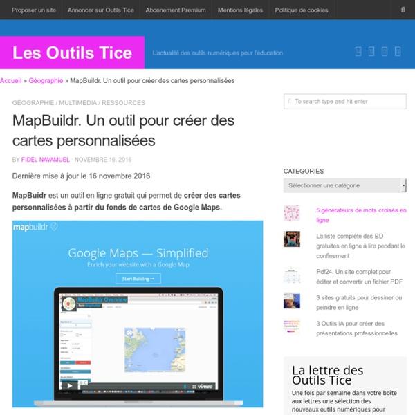 MapBuildr. Un outil pour créer des cartes personnalisées – Les Outils Tice