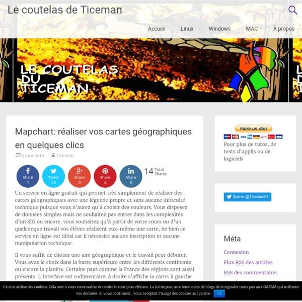 Mapchart: réaliser vos cartes géographiques en quelques clics