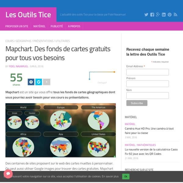 Mapchart. Des fonds de cartes gratuits pour tous vos besoins – Les Outils Tice