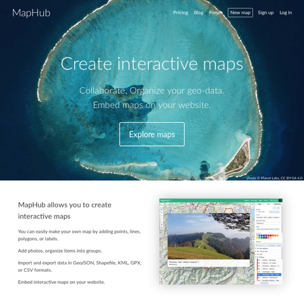 MapHub · Create interactive maps