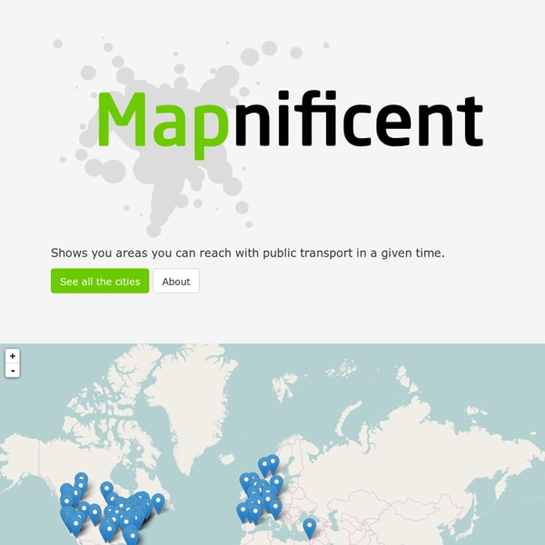 Mapnificent - Dynamic Public Transport Travel Time Maps