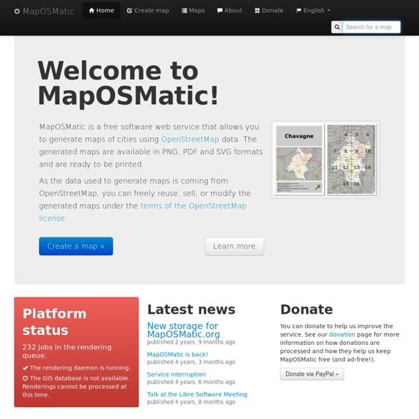 MapOSMatic: Welcome!