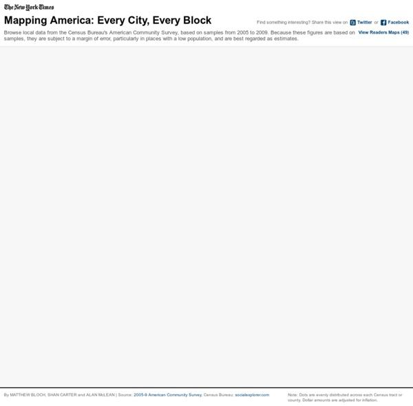 Mapping America — Census Bureau 2005-9 American Community Survey