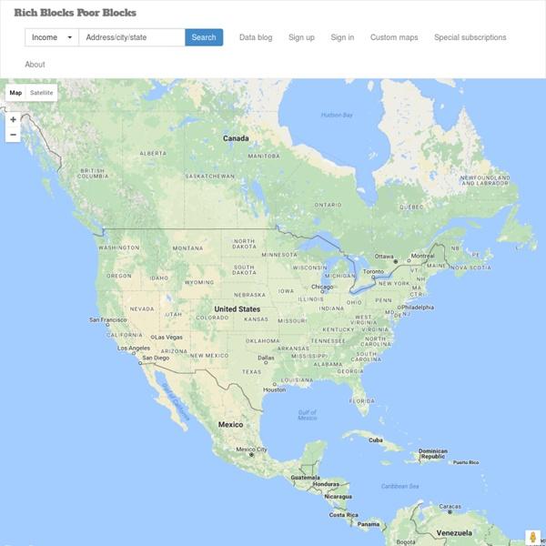 Neighborhood income and rent maps of U.S. cities