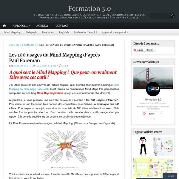Les 100 usages du Mind Mapping d'après Paul Foreman