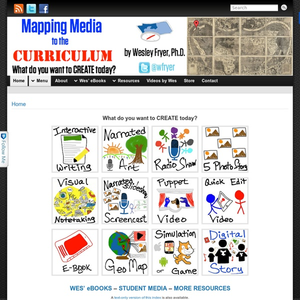 Mapping Media to the Common Core » What do you want to CREATE today?