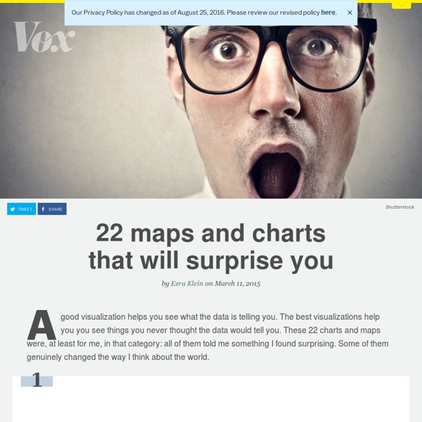 22 maps and charts that will surprise you