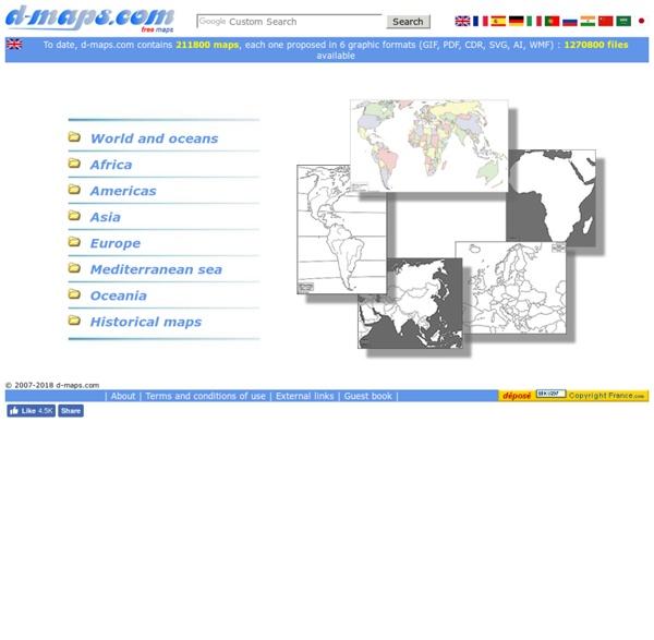 Free maps, free blank maps, free outline maps, free base maps