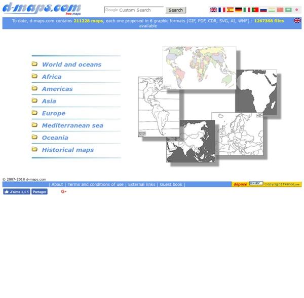 D-maps.com : free maps, free blank maps, free outline maps, free base maps