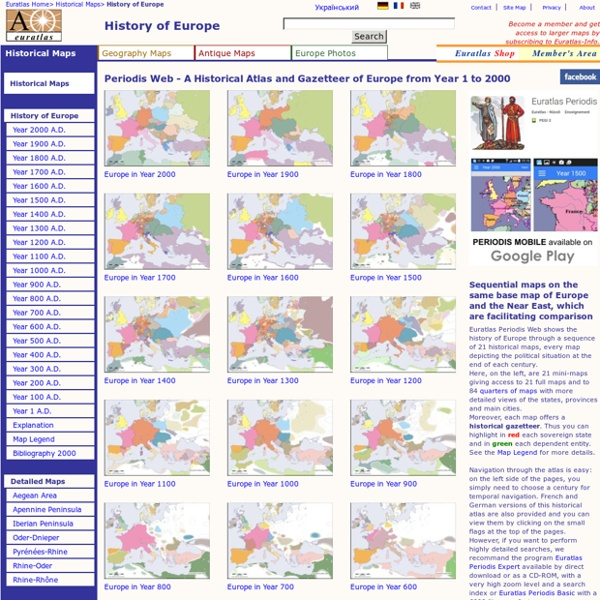 Periodis Web - Maps to be Used for the History of Europe