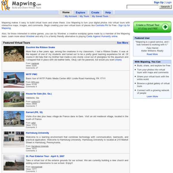 Mapwing - Build and Share Virtual Tours for Free