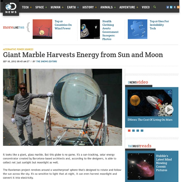 Giant Marble Harvests Energy from Sun and Moon
