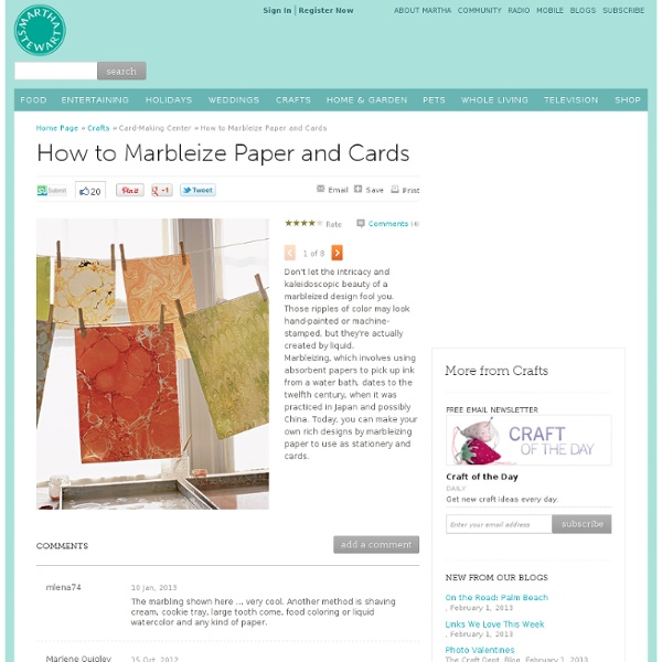 How to Marbleize Paper and Cards - Introduction - MarthaStewart.com