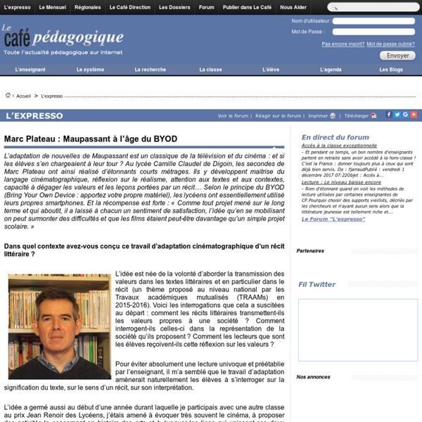 Marc Plateau : Maupassant à l'âge du BYOD
