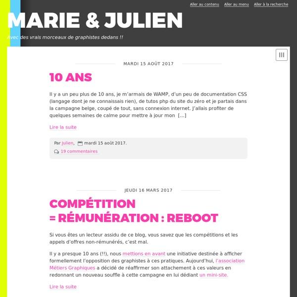 MARIE & JULIEN le blog social d'un graphiste -F
