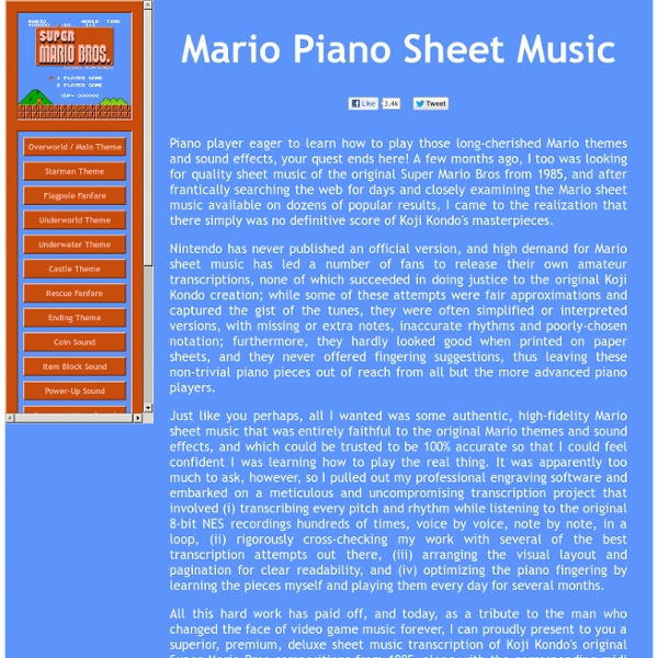 Super Mario - Piano Tutorial Easy SLOW Theme - YouTube