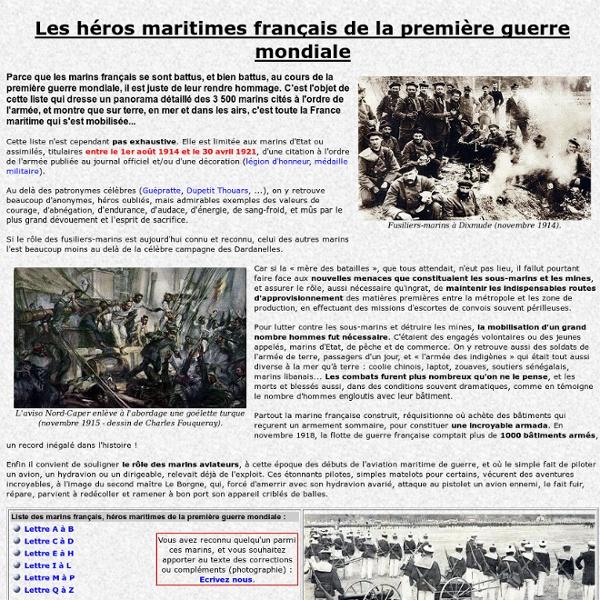 Héros maritime de la première guerre mondiale