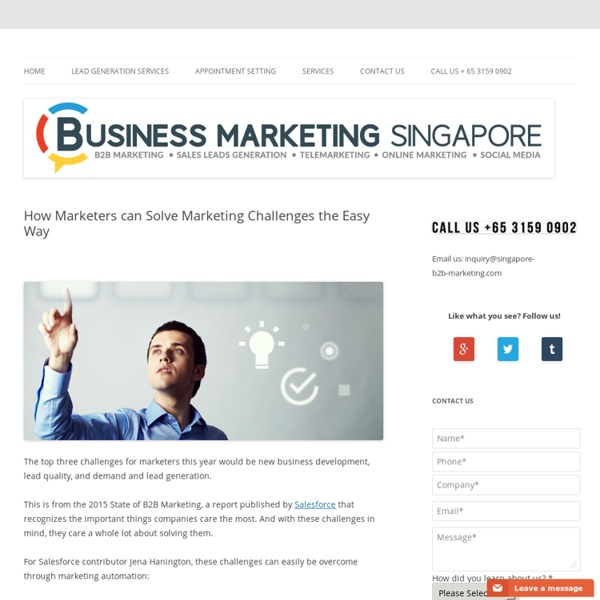 How Marketers can Solve Marketing Challenges the Easy Way