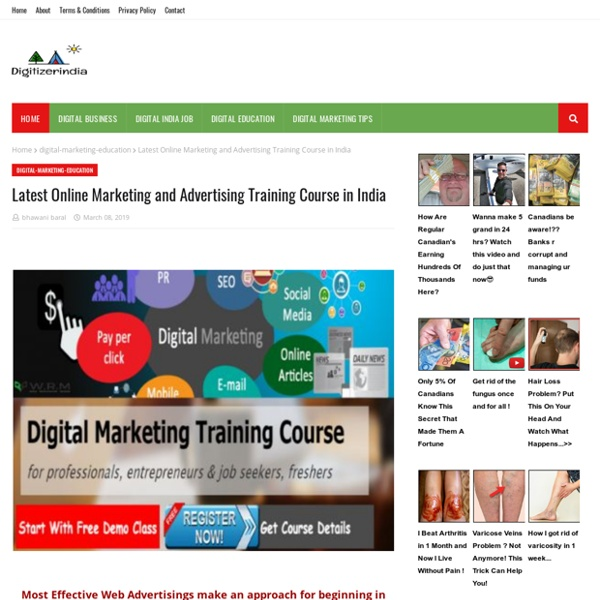 Latest Online Marketing and Advertising Training Course in India