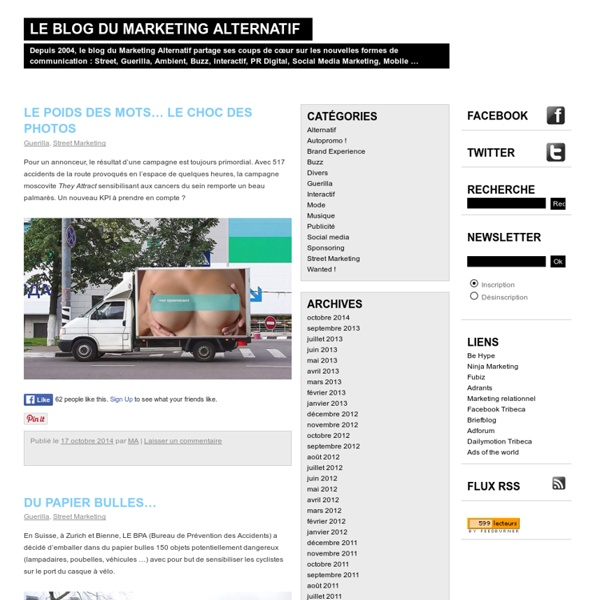 Street marketing, Buzz marketing et Guerilla marketing