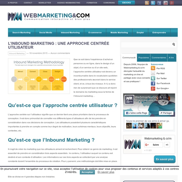 L'Inbound marketing : une approche centrée utilisateur