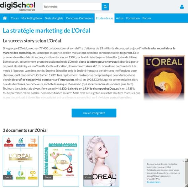 L'Oréal : Etudes, Analyses Marketing et Communication de L'Oréal