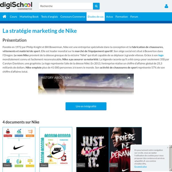 Nike : Etudes, Analyses Marketing et Communication de Nike
