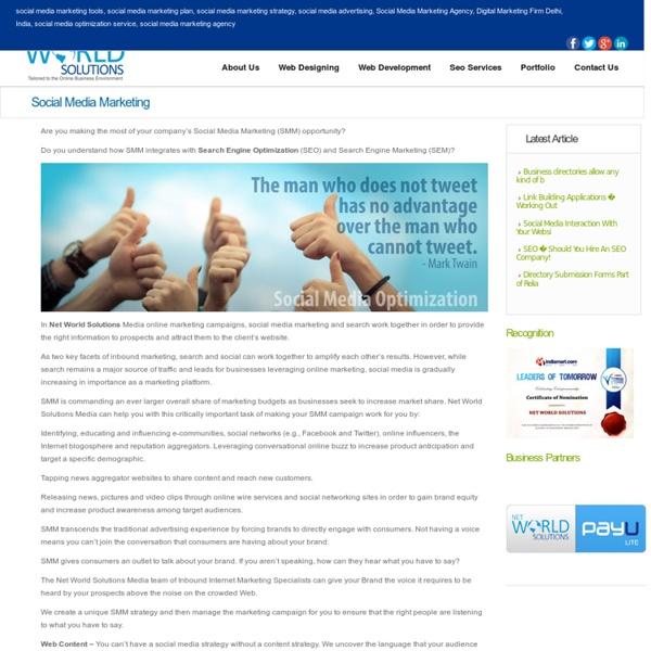 Online Marketing Company, Social Media Marketing Agency