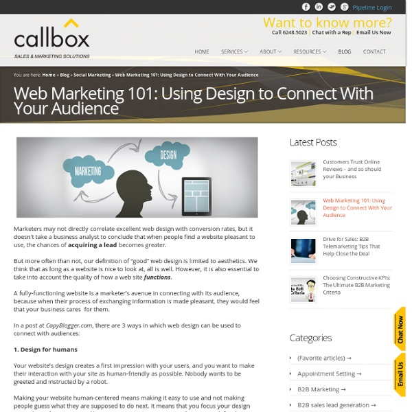 Web Marketing 101: Using Design to Connect With Your Audience