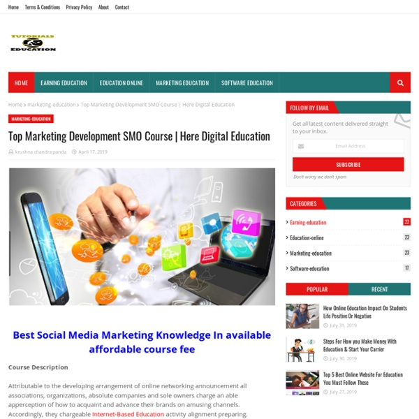 Top Marketing Development SMO Course