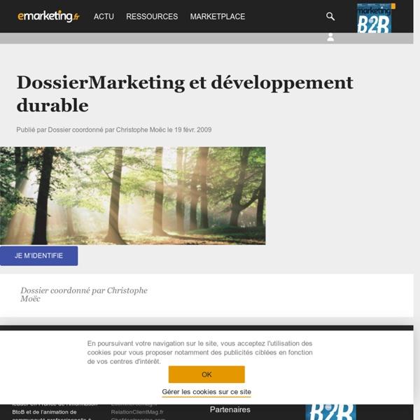 Dossier : Marketing et développement durable
