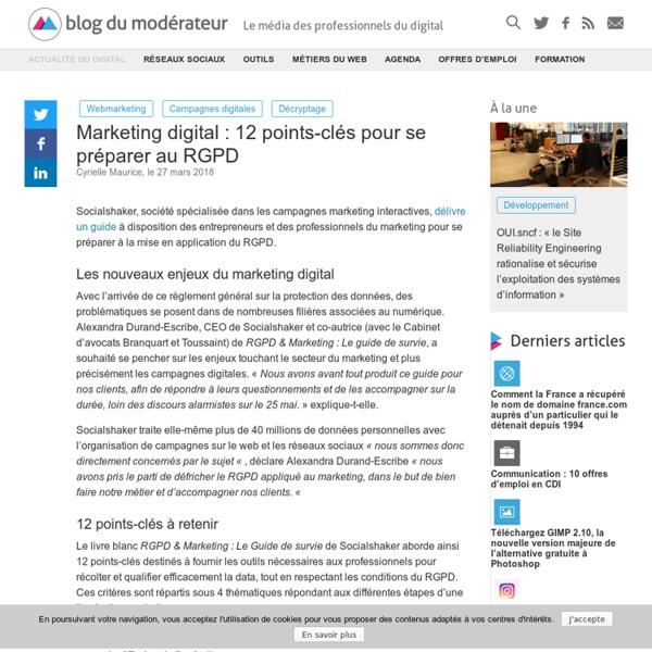 Marketing digital : 12 points-clés pour se préparer au RGPD