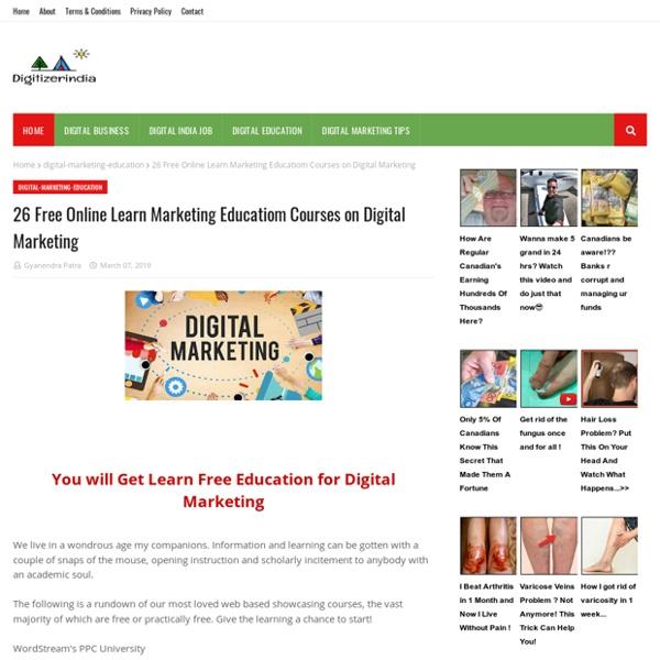 26 Free Online Learn Marketing Educatiom Courses on Digital Marketing