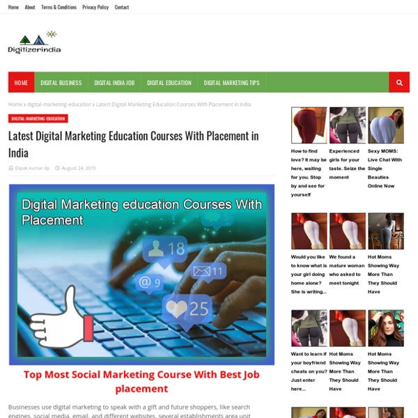 Latest Digital Marketing Education Courses With Placement in India