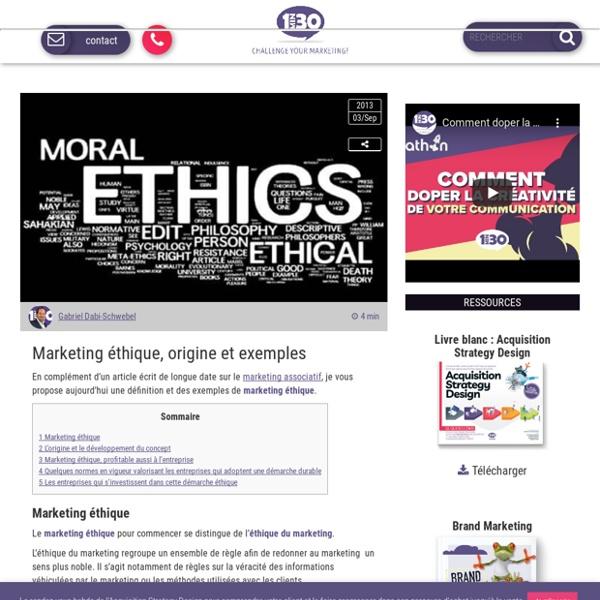 Marketing éthique, origine et exemples