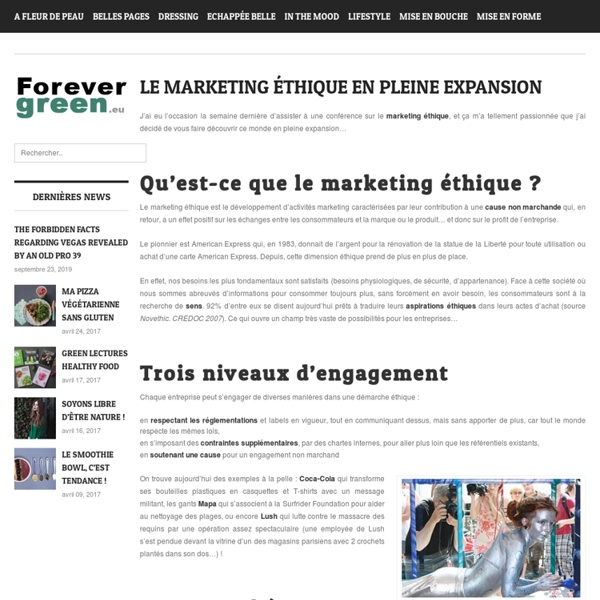 Le marketing éthique en pleine expansion